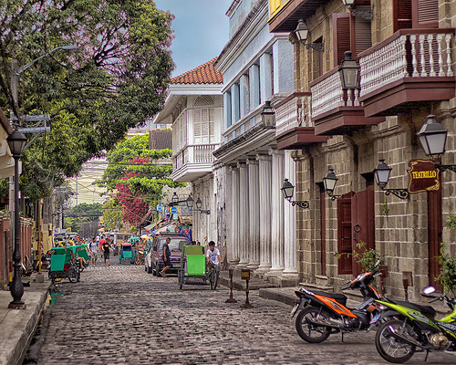 Street in Intramuros, Manila, Philippines
