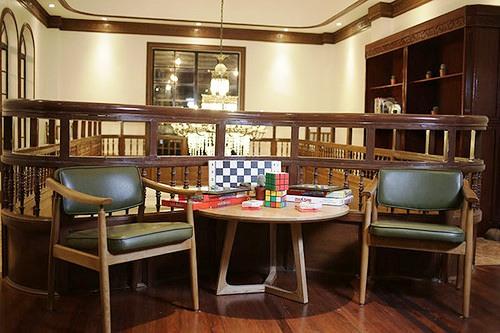 First Floor Lounge Bar Interior, Tambayan Capsule Hostel & Bar, Manila