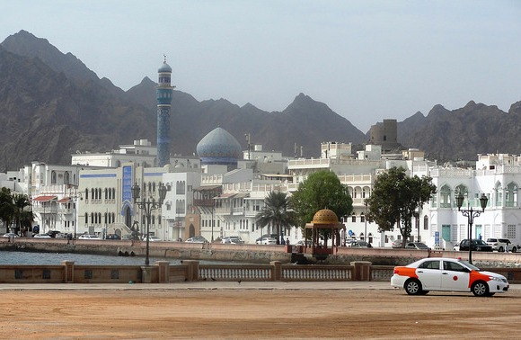 Taxi at the Corniche, Muscat, Oman