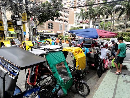 Tricycles, Corner Pedro Gil & Bocobo Street, Malate, Manila, Philippines