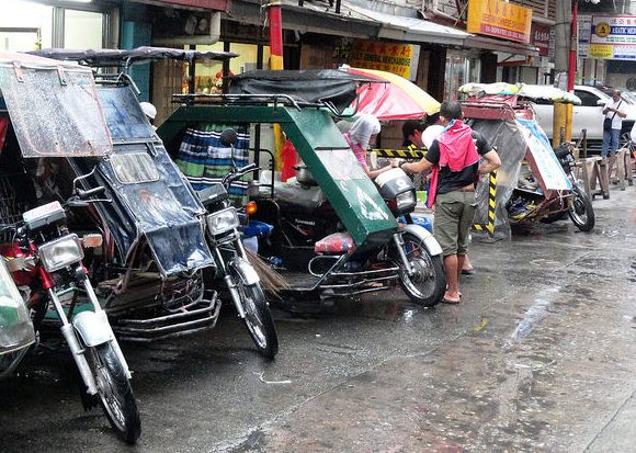 Tricycles in Chinatown, Manila, Philippines