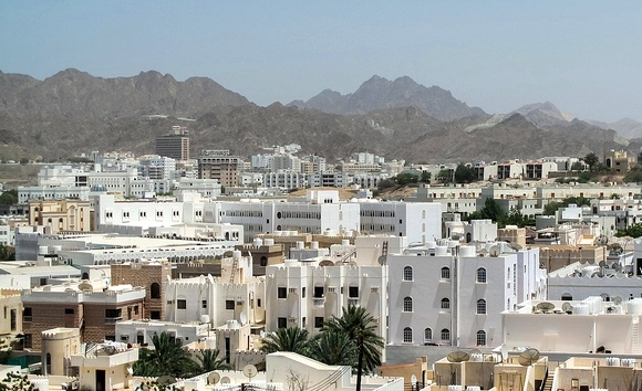 View of Muscat from Al Qurum Heights Road, Oman
