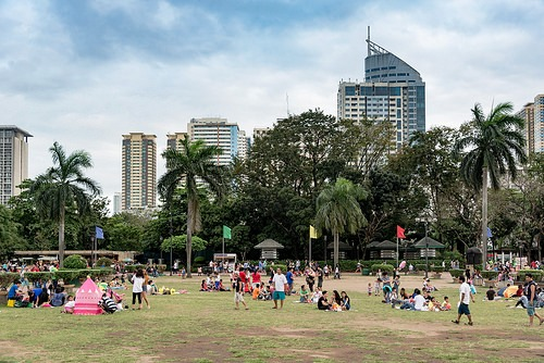 View of Rizal Park, Manila, Philippines