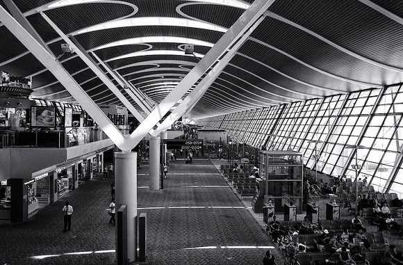 View of Shanghai Pudong International Airport