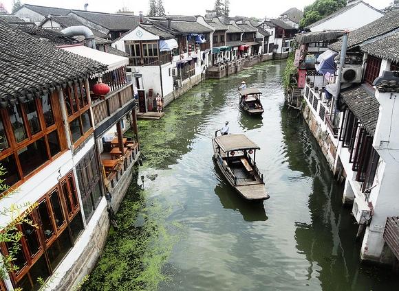View of Zhujiajiao Water Town, near Shanghai