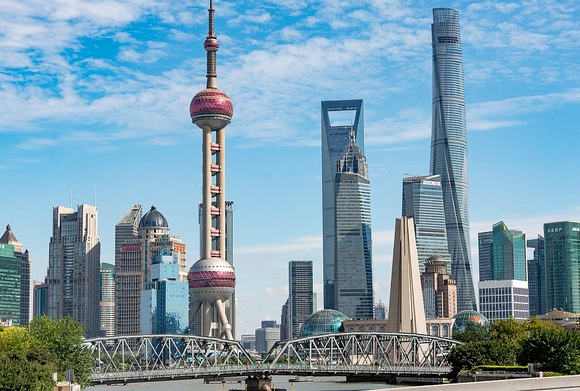 Waibaidu Bridge with Pudong Skyline, North Bund, Shanghai