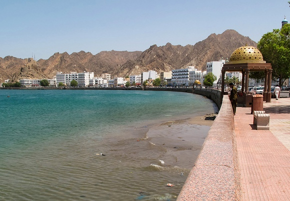 Walking along the Corniche, Muscat, Oman
