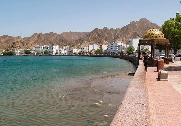 Walking along the Corniche, Muscat, Oman
