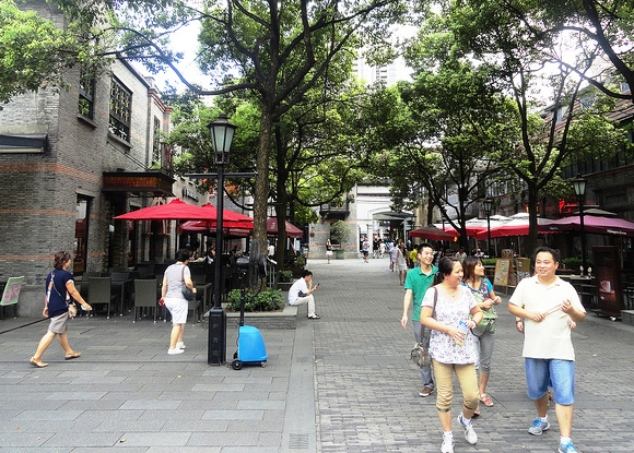 Walking in Xintiandi, French Concession, Shanghai