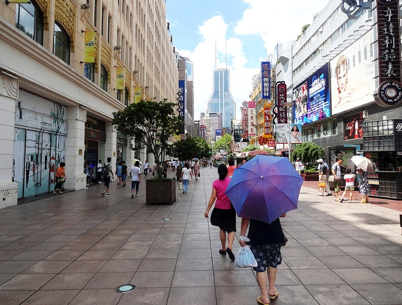Walking on East Nanjing Road, Shanghai