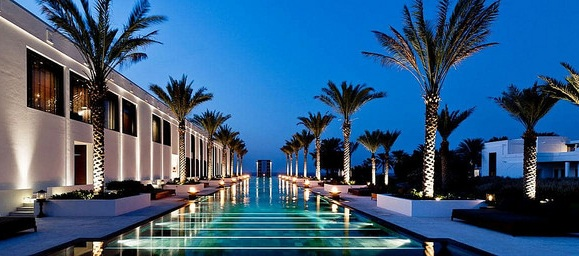 100 Metres Long Swimming Pool, The Chedi Muscat, Oman