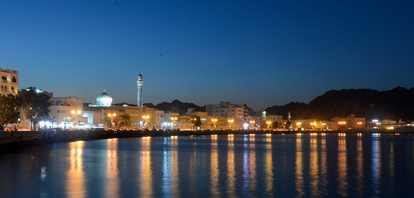 Corniche at Night, Mutrah, Muscat, Oman