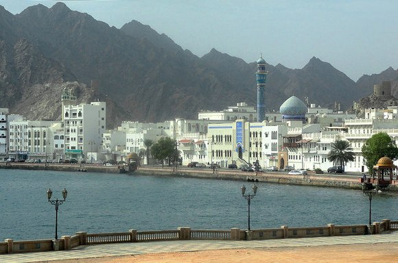 Corniche from Fish Market, Mutrah, Muscat, Oman