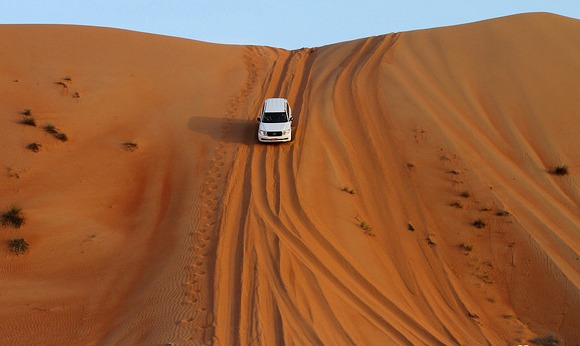 Dune Bashing at Wahiba Sands, Sultanate of Oman