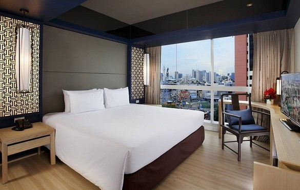 Prime City View Room, Prime Hotel Central Station, Hualamphong, Bangkok, Thailand