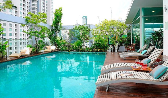 Swimming Pool, Sabai Sathorn Service Apartment, Silom, Bangkok