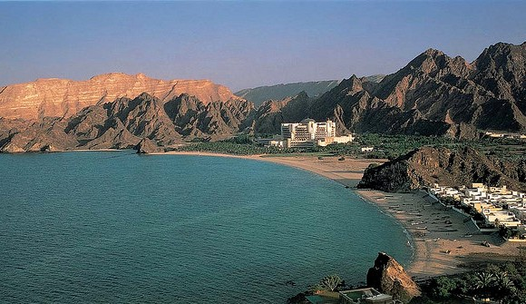 The Beach, the Village and Al Bustan Palace Hotel, Muscat, Oman