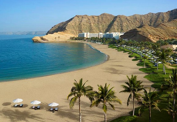 View of Shangri-La Barr Al Jissah from Al Husn Resort, Muscat, Oman