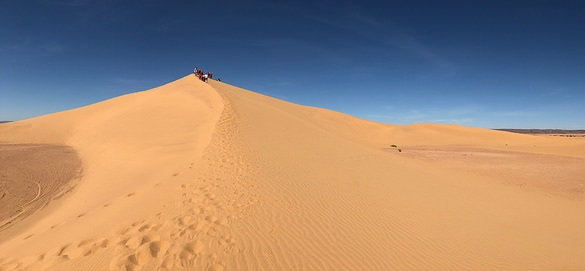 Dunes near Mhamid on the way to Erg Chegaga, Morocco