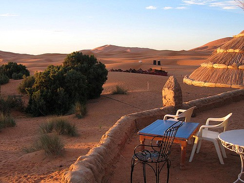 View of Erg Chebbi from Merzouga, Morocco