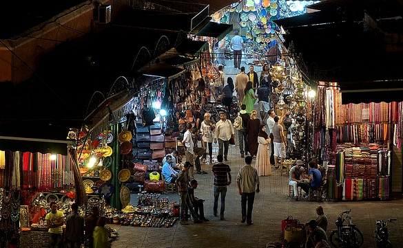 The Souk at Night, Marrakech, Morocco