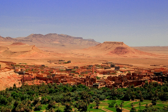 View of Tinghir Oasi, Morocco