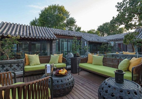 Rooftop Terrace, PUREMIND LeZai Boutique Courtyard Hotel, Beijing, China