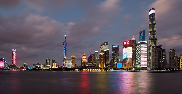 Visiting the Bund with Pudong Skyline, China