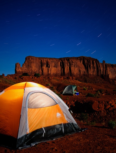 Camping in Monument Valley, Arizona and Utah, United States of America