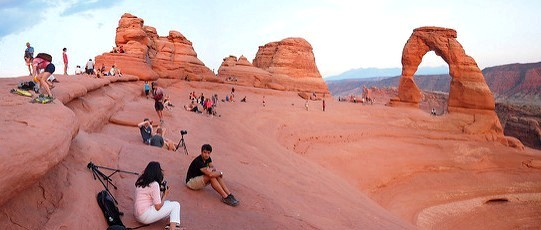 Delicate Arch Panorama, Arches National Park, Utah, United States of America