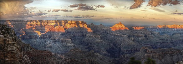 Grand Canyon at Sunset, Grand Canyon National Park, Arizona, United States of America