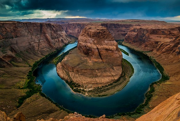 Great View of Horseshoe Bend, near Page, Arizona, United States of America