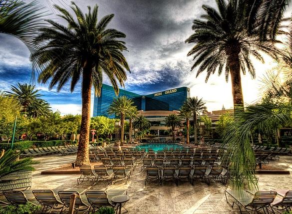 Poolside, MGM Grand, Las Vegas, Nevada, USA