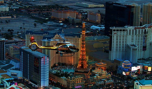 Sundance Helicopter Flying Above The Strip, Las Vegas, Nevada, United States of America