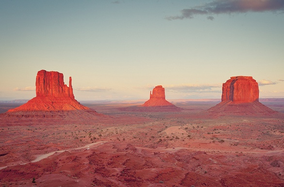 Sunset at Monument Valley, Arizona and Utah, United States of America