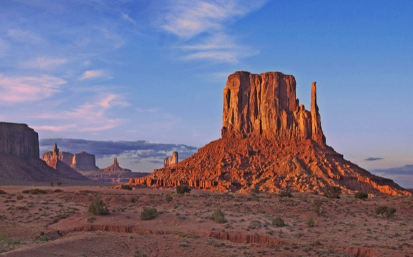 View of the Monument Valley, Arizona and Utah, United States of America