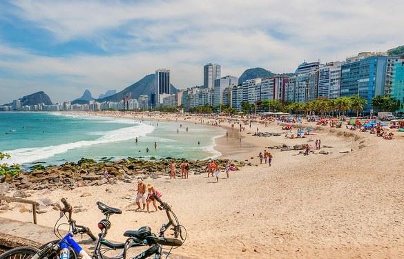 A Great View of Copacabana Beach, Copacabana, Rio de Janeiro, Brazil