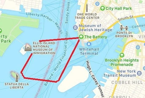 Clipper City, Statue of Liberty Cruise Map