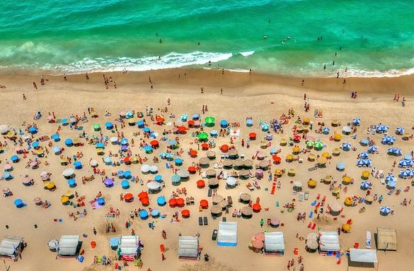 Colorful Ipanema Beach, Ipanema, Rio de Janeiro, Brazil
