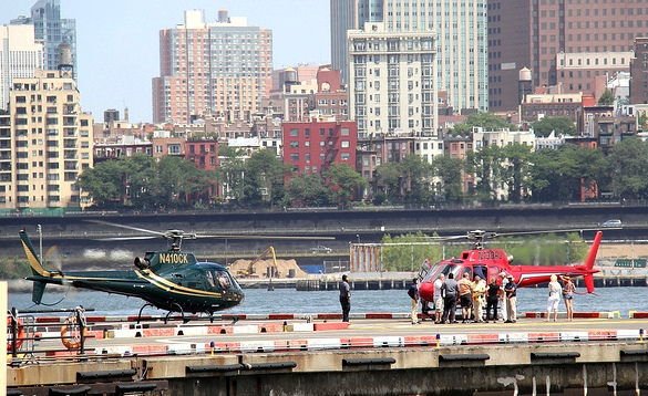 Downtown Heliport, 6 East River Pier, Lower Manhattan, New York City, New York, USA