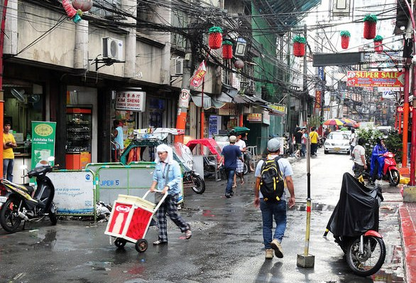 Street in Chinatown, Binondo, Manila, Philippines