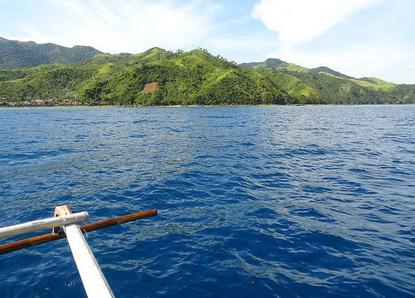 Travelling by Boat between Sabang Port and Guijalo Port, Caramoan Peninsula, Camarines Sur, Philippines