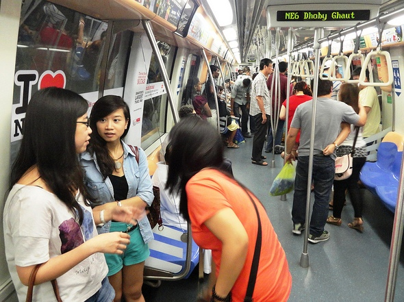 Aboard North-East Line, Singapore Metro
