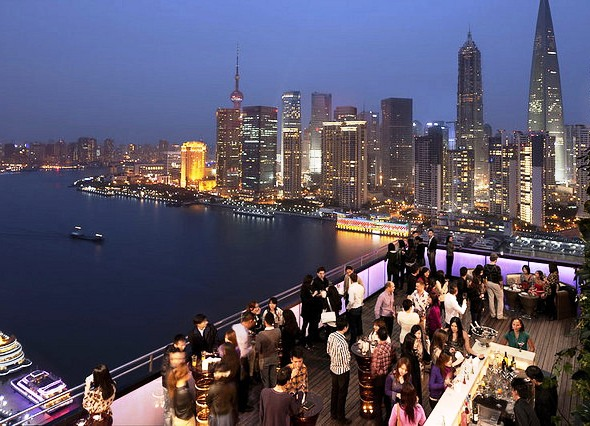 CHAR Bar Outside Terrace at Indigo Shanghai On the Bund