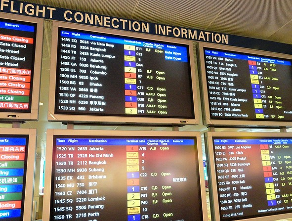 Flight Info, Changi Airport, Singapore