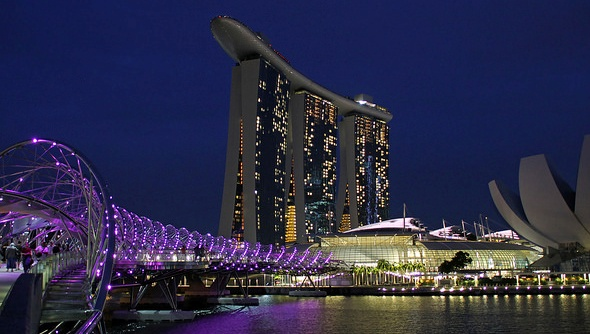 Marina Bay Sands in the Evening, Singapore