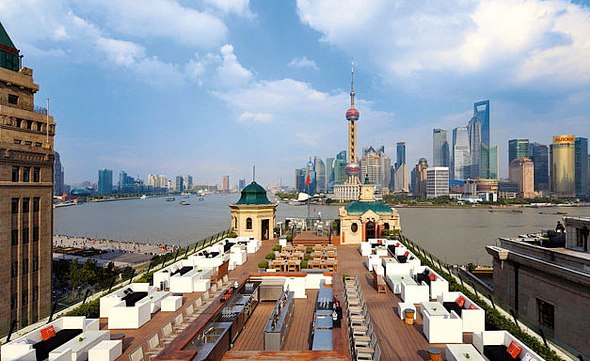 the terrace at Swatch Art Peace Hotel Shanghai