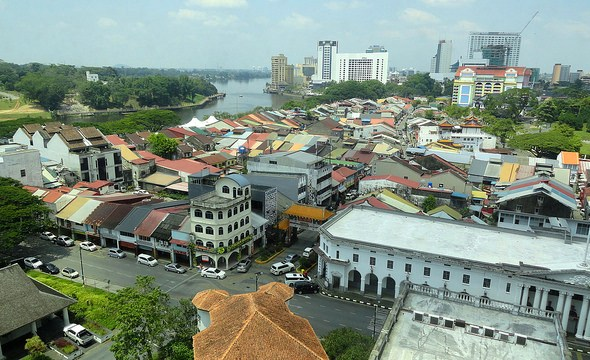 Carpenter Street and the Historic District, Kuching, Sarawak, Malaysian Borneo