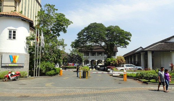 Entrance, The Waterfront Hotel, Historic District, Kuching, Sarawak, Malaysian Borneo