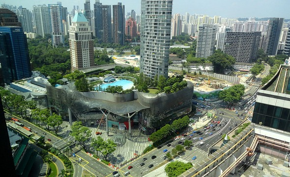 View of ION Orchard and corner of Scotts and Paterson with Orchard Road from 27th Floor of YOTEL Singapore